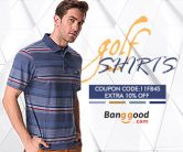 10% OFF for Men Golf Shirts from BANGGOOD TECHNOLOGY CO., LIMITED