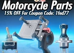 15% OFF For Motorcycle Parts Promotion from BANGGOOD TECHNOLOGY CO., LIMITED