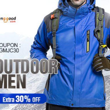 Thêm 30% OFF cho nam giới áo khoác ngoài giải phóng mặt bằng từ BANGGOOD TECHNOLOGY CO., LIMITED