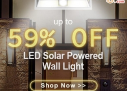 Up to 59% OFF for LED Solar Powered Wall Light from BANGGOOD TECHNOLOGY CO., LIMITED