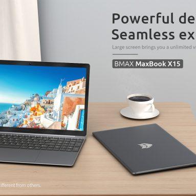 270 € са купоном за [нову верзију] Лаптоп БМАКС Кс15 15.6 инчни Интел Н4120 8 ГБ РАМ 256 ГБ ССД 38 Вх батерија Тастатура преносника пуне величине од БАНГГООД-а