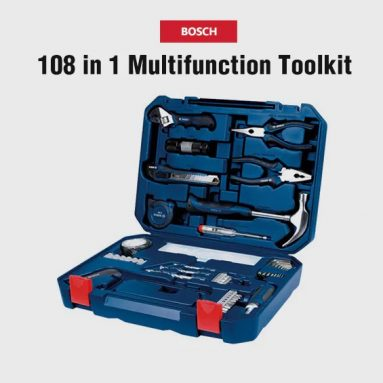 €61 with coupon for BOSCH 108 in 1 Home Multifunction Toolkit Hand Tool Set from GEARBEST