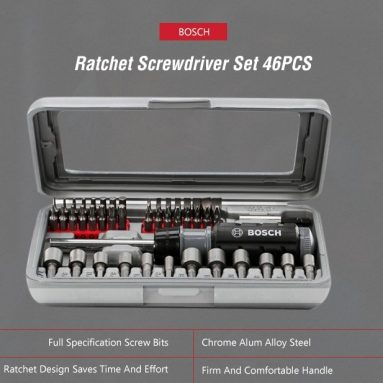 $ 52 sa kupon para sa BOSCH 46 sa 1 Ratchet Screwdriver Bit Set Extension Rod mula sa GEARBEST