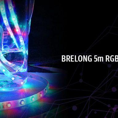 BRELONG 음악 센서 29m RGB 5-LED 스트립 조명 장식용 150PCS - GearBest의 BLACK EU PLUG