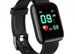 €8 with coupon for Bakeey 116 Plus 1.3′ Custom Dial Dynamic Blood Pressure Oxygen Message Push Multi-language Smart Watch from BANGGOOD