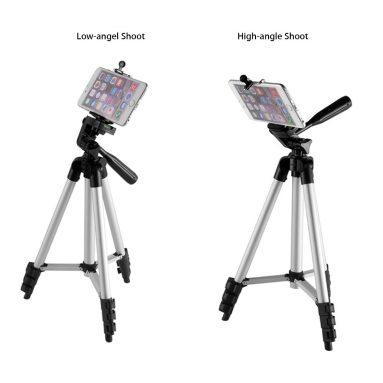 €8 with coupon for Bakeey Professional Camera Adjustable Tripod Stand Holder Live Selfie Stick for iPhone 8 Plus X S8 S9 from BANGGOOD
