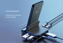 € 25 बेसस 7 के लिए कूपन के साथ 1 टाइप-सी यूएसबी-सी हब डॉकिंग स्टेशन एडाप्टर 1 * यूएसबी 3.0 / 2 * यूएसबी 2.0 / टाइप-सी पीडी चार्जिंग पोर्ट / 4K एचडी डिस्प्ले इंटरफेस / टीएफ कार्ड रीडर स्लॉट / कैमरा कार्ड रीडर के साथ यूरोपीय संघ CZ गोदाम BANGGOOD से स्लॉट