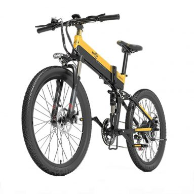 BEZIOR X789Pro 500W 500 인치 접이식 파워 어시스트 전기 자전거 E-Bike 26AH 배터리 10.4km 범위 (EU GER 창고 TOMTOP) € 100 쿠폰 포함