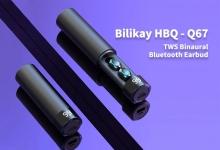 $ 21 mit Gutschein für Bilikay HBQ - Q67 TWS binaurale drahtlose Bluetooth-Mini-Ohrhörer - Schwarz von GEARBEST