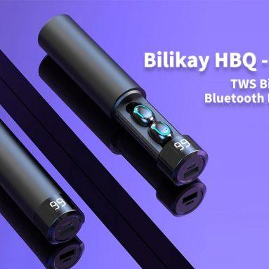$ 21 với phiếu giảm giá cho Bilikay HBQ - Tai nghe Bluetooth không dây hai tai Q67 TWS - Đen từ GEARBEST