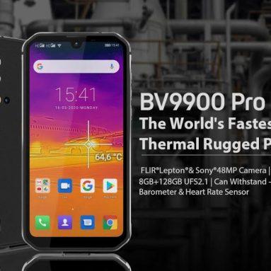 € 364 kèm theo phiếu giảm giá cho Blackview BV9900 Pro Global Bands IP68 / IP69K Chống nước 5.84 inch FHD + NFC 4380mAh Android 9.0 Nhiệt bằng Máy ảnh FLIR 8GB 128GB Helio P90 4G Điện thoại thông minh - Phiên bản EU màu xám từ BANGGOOD