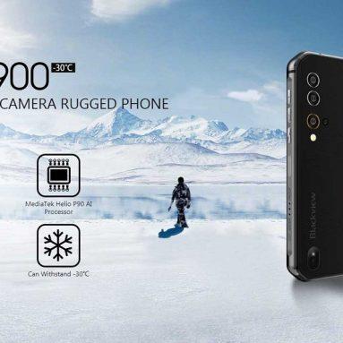 € 287 kèm theo phiếu giảm giá cho Blackview BV9900 Global Bands IP68 / IP69K Chống thấm nước 5.84 inch FHD + NFC 4380mAh Android 9.0 48MP Camera bốn phía sau 8GB 256GB Helio P90 4G Điện thoại thông minh từ BANGGOOD