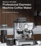 257 يورو مع كوبون لـ BlitzHome BH-CMM5 1620W 20Bar Professional Espresso Machine Coffee Maker PID Smart Temperature Control Conical Burr Grinder من مستودع الاتحاد الأوروبي تشيكوسلوفاكيا BANGGOOD