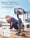 € 62 avec coupon pour stabilisateur de cardan bluetooth 14-Axis BlitzWolf® BW-BS3 avec trois modes de réglage pour téléphones mobiles de BANGGOOD