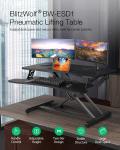 62 € med kupon til BlitzWolf® BW-ESD1 Pneumatisk løftebord Stående skrivebord med håndtagskontrol Justerbar højde To-lags design Stort skrivebordsrum Stabil struktur fra EU CZ WAREHOUSE BANGGOOD