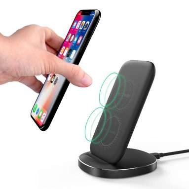 €9 with coupon for BlitzWolf® BW-FWC6 10W 7.5W 5W Dual Coils Qi Wireless Fast Charger from BANGGOOD