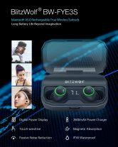 31 s kupónom pre BlitzWolf® BW-FYE3S Pravé bezdrôtové bluetooth 5.0 slúchadlo Digitálne napájanie Displej Smart Touch Bilaterálne slúchadlá s 2600mAh nabíjacím boxom - čierny od BANGGOOD