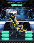 € 89 dengan kupon untuk BlitzWolf® BW-GC2 Versi Terbaru Kursi Gaming Desain Ergonomis 180 ° Berbaring Sandaran Tangan yang Dapat Disesuaikan Pijakan Kaki Memperluas Sandaran Rumah Kantor Gudang EU CZ dari BANGGOOD