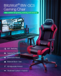 €149 with coupon for BlitzWolf® BW-GC5 Gaming Chair Ergonomic Design 180°Max Reclining 4D Adjustable Armrest Thicken Spring Cushion with Footrest for Home Office – Red from EU CZ warehouse BANGGOOD