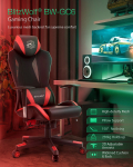 €112 with coupon for BlitzWolf® BW-GC6 Gaming Chair with High-density Mesh 150°Reclining 2D Adjustable Armrest Pillow Support Widened Cushion & Back Home Office – Red from EU CZ warehouse BANGGOOD