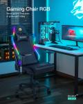 155 € avec coupon pour Chaise de jeu BlitzWolf® BW-GC8 avec 7 effets de lumières RVB Accoudoir réglable 160D inclinable à 2 ° Max pour le bureau à domicile de l'entrepôt EU CZ BANGGOOD