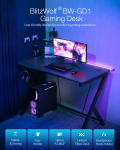 €64 with coupon for BlitzWolf® BW-GD1 Gaming Desk Large Desktop Ergonomic Design Computer Table Gamer Workstation with Cup Holder Headphone Hook for Home Office from EU CZ warehouse BANGGOOD