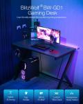 € 72 com cupom para BlitzWolf® BW-GD1 Gaming Desk Large Desktop Design ergonômico Mesa para computador Estação de trabalho para jogadores com suporte para copos Gancho de fone de ouvido para home office do armazém da UE CZ BANGGOOD