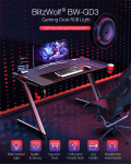 €110 with coupon for BlitzWolf® BW-GD3 Gaming Desk from EU CZ warehouse BANGGOOD