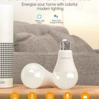 8 € cu cupon pentru aplicația BlitzWolf® BW-LT21 RGBWW 10W E27 Bec inteligent cu LED Lucrează cu Amazon Alexa Asistent Google AC100-240V din depozitul EU CZ BANGGOOD