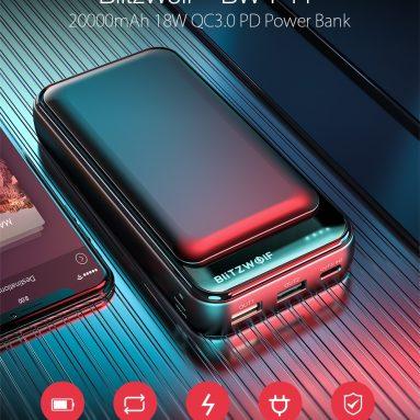 17 євро з купоном на BlitzWolf® BW-P11 20000mAh 18W QC3.0 PD Power Bank зі складу ЄС Чеська Республіка BANGGOOD