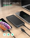 13 € s kupónom pre BlitzWolf® BW-P9 10000 mAh 18 W QC3.0 PD3.0 typ c + USB porty Power Bank s rýchlym nabíjaním duálneho vstupu a výstupu (+ GIFT) od BANGGOOD