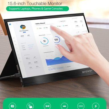177 € s kuponom za BlitzWolf® BW-PCM3 15.6 inčni dodirni FHD 1080P tip C Prijenosni računalni monitor Zaslon za igranje igara za pametne telefone Konzole za prijenosna računala s prijenosnim računalom iz skladišta CN / EU ES BANGGOOD