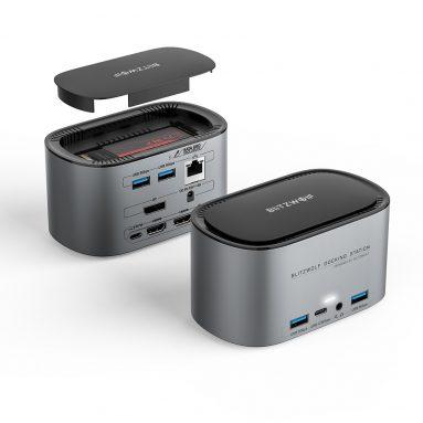 € 71 ब्लिट्जवॉल्फ® BW-TH12 14-इन -1 डॉकिंग स्टेशन के लिए M.2 SATA 3.0 NGFF SSD एनक्लोजर HD 4K / 60HZ ट्रिपल डिस्प्ले USB 3.0 1000Mb / s RJ45 ईथरनेट इंटरफेस के साथ BANGGOOD के लिए कूपन