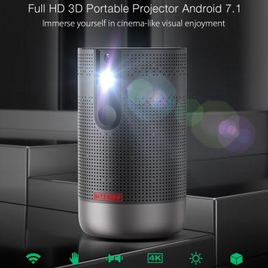 305 € cu cupon pentru BlitzWolf® BW-VP4 Proiector portabil 3D Full HD Android 7.1 cu rezoluție 1080P 4K Activ fără fir Același ecran Proiector home cinema - Plug UE din depozitul EU CZ BANGGOOD