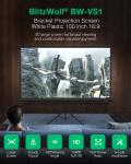 56 євро з купоном на проекційний екран для кронштейнів BlitzWolf® BW-VS1 100-дюймовий 1080P Full HD із підставкою 16: 9 3D-дисплей Білий пластиковий шторний проектор із великим екраном Кут огляду для кінофільмів Домашній кінотеатр На відкритому повітрі зі складу EU CZ BANGGOOD
