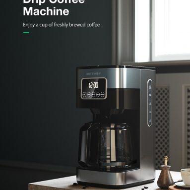 BlitzWolf®BW-CMM47 Damla Kahve Makinesi için kuponlu 1 €, 12 Fincanlık Karaf, Gecikmeli Demleme Zamanlayıcısı, Mukavemet Kontrolü, 30 sn Damlama Önleme, Temiz Su Penceresi ve EU PL deposundan Otomatik Kapatma BANGGOOD