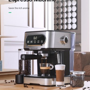 € 88 BlitzWolf BW-CMM2 Espresso Makinesi için kuponlu € 20 Bar Yüksek Basınçlı Ekstraksiyon Süt Köpürme Hassas Kontrol Çift Sistem Güvenli Koruma 1100W EU PL deposundan BANGGOOD