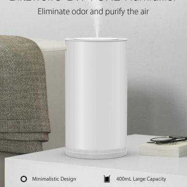 € 11 med kupong for Blitzwolf® BW-FUN2 Elektrisk 400 ml berøringsstyring ultralyd luftfukter med LED-lys hjemme desktop USB luftrenser Mist diffusor fra EU ES lager BANGGOOD