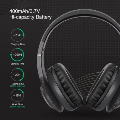 € 21 với phiếu giảm giá cho Tai nghe Bluetooth không dây Blitzwolf® BW-HP0 Tai nghe thể thao âm thanh nổi có thể gập lại qua tai với Mic - Đen từ BANGGOOD