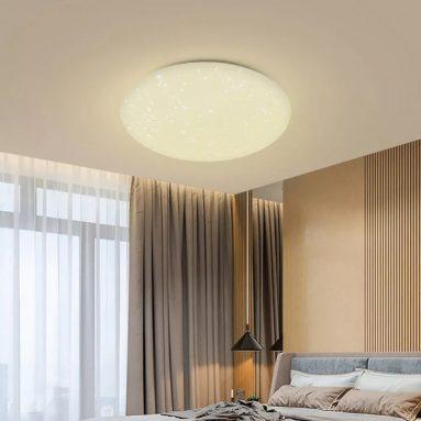 € 22 met kortingsbon voor Blitzwolf® BW-LT20 24W Smart LED-plafondlampmontage WiFi APP-bediening Werk met Amazon Echo Google Home AC100-240V - Witte lampenkap uit EU CZ-magazijn BANGGOOD