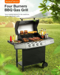 €258 with coupon for Blitzwolf BW-GO1 Four Burners BBQ Gas Grill – 50 mbar from EU CZ warehouse BANGGOOD