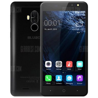$64 flash sale for Bluboo D1 3G Smartphone  –  BLACK from GearBest