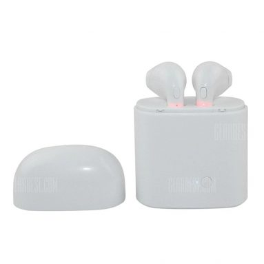 $9 with coupon for Bluetooth Earbuds by Wireless Headset Earphone Earpiece for iPhone 6 / 6s / 6s Plus / 7 / 7 Plus / X Android Samsung  –  WHITE from GearBest