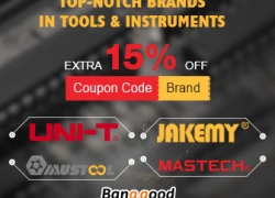 TOP-NOTCH BRANDS IN TOOLS & INSTRUMENTS: 15% OFF from BANGGOOD TECHNOLOGY CO., LIMITED