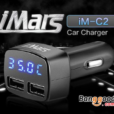 iMars™ iM-C2 4 in 1 Dual USB Car Charger from BANGGOOD TECHNOLOGY CO., LIMITED