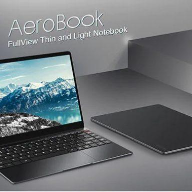 EUES倉庫BANGGOODからのCHUWIAeroBookラップトップ310インチ13.3GBDDR8 3GBSSDのクーポン付き€256