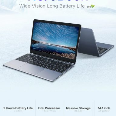 € 164 may kupon para sa CHUWI HeroBook Laptop 14.1 pulgada Intel Atom x5-E8000 4GB DDR3 64GB EMMC Intel HD Graphics N3000 - Madilim Gray mula sa BANGGOOD