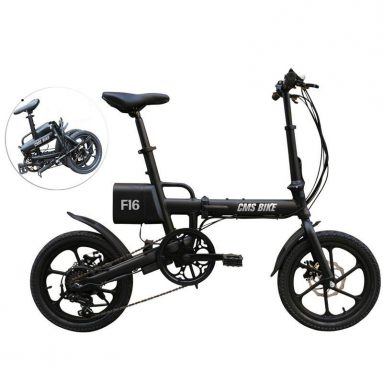 €509 with coupon for CMSBIKE F16 Extra Battery Set 36V 7.8AH 250W Black 16 Inches Folding Electric Bicycle 20km/h 65KM Mileage Intelligent Variable Speed System With An Extra Battery from BANGGOOD