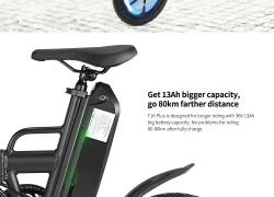 € 419 dengan kupon untuk CMSBIKE F16-PLUS 13Ah 250W Hitam 16 Inci Lipat Sepeda Listrik dari BANGGOOD