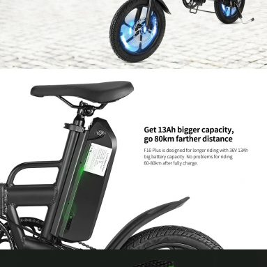 €459 with coupon for CMSBIKE F16-PLUS 13Ah 250W Black 16 Inches Folding Electric Bicycle from BANGGOOD